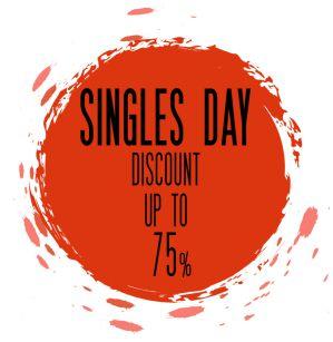 Singles day korting